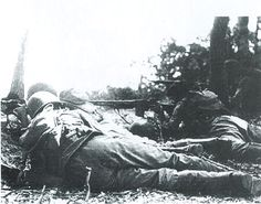 Brazilian soldiers in combat near Montese