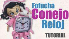 """Tutorial de como hacer una fofucha bebe para reloj Tutorial on how to make a fofucha for an alarm clock """"Music: www.bensound.com"""""""