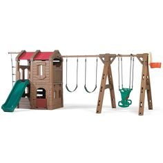 Naturally Playful® Adventure Lodge Play Center with Glider by Step2 is one of most popular Swing Sets products for children. View and shop now