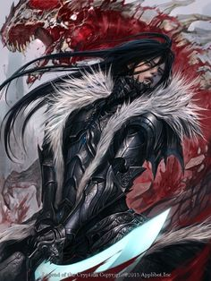 Artist: Jung Myung Lee aka rupid79 - Title: sword - Card: Bradley, Quiet Swordsman (Focused)