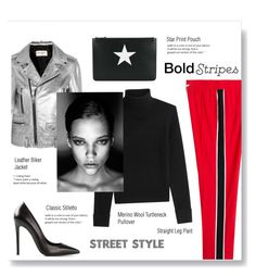 """#boldstripes"" by brccz ❤ liked on Polyvore featuring Kenzo, Yves Saint Laurent, Vanessa Seward, Gianmarco Lorenzi and Givenchy"