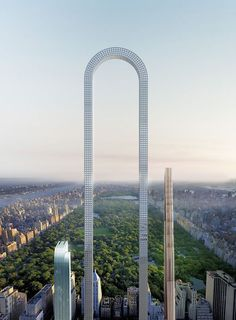 The Big Bend is a proposed skyscraper to be constructed in New York City. The skyscraper, which was designed by the New York architecture firm Oiio Studio, has been described as the longest building in the world. Futuristic Architecture, Beautiful Architecture, Architecture Design, Conceptual Architecture, Building Architecture, Conceptual Design, Historical Architecture, Unique Buildings, Amazing Buildings