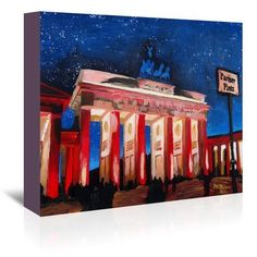 East Urban Home Berlin 2 Stars Original Painting on Wrapped Canvas Size: 32 H x 48 W x 1.5 D