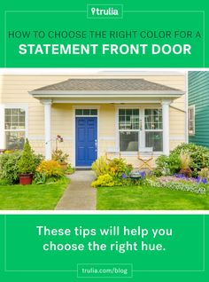 How to Choose the Right Color for a Statement Front Door