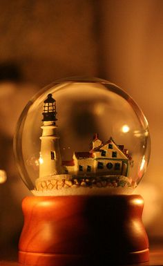 country snowglobe