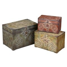 I pinned this 3 Piece Chancellor Decorative Box Set from the Out of the Woodwork event at Joss and Main!