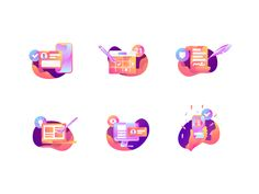 Icon Set Great work from a designer in the Dribbble community; your best resource to discover and connect with designers worldwide.Great work from a designer in the Dribbble community; your best resource to discover and connect with designers worldwide. Web Design, Flat Design Icons, Icon Design, Logo Design, Flat Icons, Design Layouts, Icon Set, I Icon, Illustrator