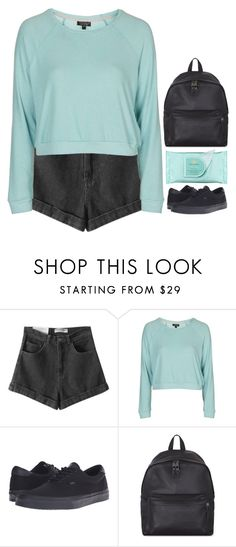 """""""give me a reason to start again"""" by emilypondng ❤ liked on Polyvore featuring Chicnova Fashion, Topshop, Vans, Eastpak and Estée Lauder"""