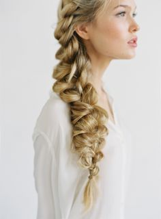 Romantic Side Braid Hair Tutorial Hair by Heidi Marie Garrett, Makeup by Amy Clarke, Shot by Bryce Covey for Once Wed