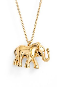 Free shipping and returns on kate spade new york elephant pendant necklace at Nordstrom.com. Add playful elegance to your nine-to-five attire with a gleaming pendant necklace anchored by a dainty, starry-eyed elephant charm.
