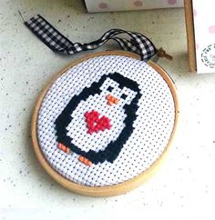 Penguin Bauble Cross Stitch Kit - The Make Arcade - The Treasured                                                                                                                                                                                 More