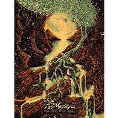 Ray LaMontagne poster for Red Rocks Amphitheatre in Morrison, CO on September 18, 2016. designed by James R. Eads.