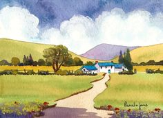 Original Watercolour....Welsh Hillside by Pamelajonesartstudio, £20.00