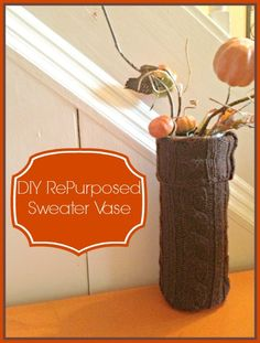 It's time to throw together a DIY Repurposed Sweater Vase. Do you have an old sweater or two laying around that you just are wearing anymore? Perhaps it has holes, or stains, or just doesn't fit anymore. Whatever the case may be, why not turn your old sweater into something pretty and practical? This DIY …