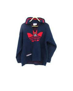 Preppy Vintage Adidas Sweater by Gintro $52.00 Vintage Sport, Vintage Adidas, Old School, Preppy, Soccer, Suits, Trending Outfits, Sweaters, Jackets