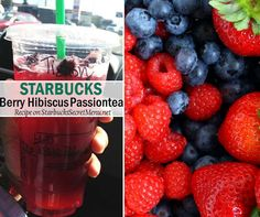 Starbucks Berry Hibiscus Passion Tea! Fresh and fruity, recipe here: http://starbuckssecretmenu.net/starbucks-secret-menu-berry-hibiscus-passion-tea/