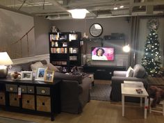 Ikea Showroom Gray Living Room