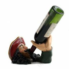 Pirate Captain Wine Bottle Holder by Lovinghome. Save 35 Off!. $79.99. Elegant. Wine Bottle Holder. The perfect accessory for wine lovers.. Pirate Captain Wine Bottle HolderDisplay your amazing Pirate Captain Wine Bottle Holder. Put it on a sideboard, have it as a table centerpiece, or simply in the kitchen and the bottle holder will instantly draw attention to your vintage tipple. It is ideal for parties, for impressing your friends, or just as an ornament. It looks mind-bending, i...