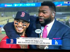 Betts and Ortiz Red Sox Baseball, Baseball Uniforms, Baseball Socks, Baseball Caps, Boston Sports, Boston Red Sox, Red Sox Nation, Mookie Betts, Boston Strong