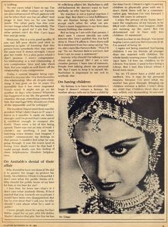 Rekha's 1984 Interview with Filmfare magazine about her affair