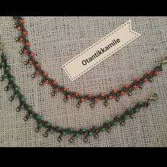 Beaded Anklets, Beaded Jewelry, Beaded Bracelets, Crochet Necklace Pattern, Hanging Beads, Ankle Chain, Toe Rings, Ankle Bracelets, Ring Earrings