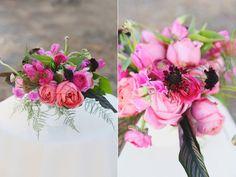 Flowers used: 1. Foliage 2. Scabiosa 3. Tulip 4. Sweet Pea 5. Ranunculus 6. Antike Garden Rose