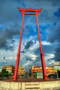 The Giant Swing in Bangkok, Thailand.
