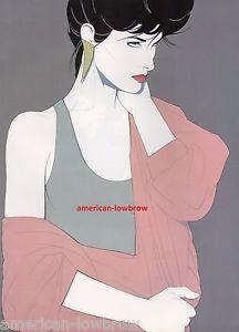 Retro 80s Patrick Nagel Art Poster Print Art Deco Pinup Glamour Girl