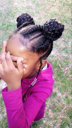 Little girl braids hairstyle