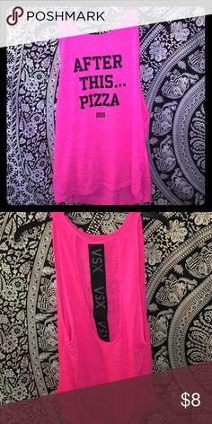 Victoria's Secret VSX open back tank top Hot pink open back tank top! Victoria's Secret Tops Tank Tops