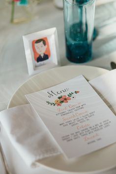 wedding menu - photo by Olli Studio http://ruffledblog.com/embroidery-and-hand-stitching-wedding-inspiration