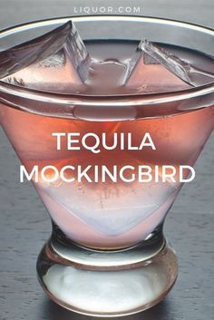 Tequila and watermelon is a woefully underused combination. Mix up these two summer ingredients to make the Tequila Mockingbird cocktail. Tequila and watermelon is a woefully underused combination. Mezcal Cocktails, Cocktail Drinks, Paloma Cocktail, Cherry Cocktails, Peach Schnapps Drinks, Red Wine Cocktails, Grapefruit Cocktail, Fancy Drinks, Grapefruit Juice