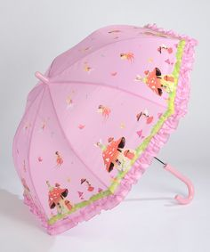 If a woodland fairy happens to get caught in an unexpected shower, she stays dry with this handy umbrella. Too cute! 58 x 60cmVarious materialsRecommended for ages four and up