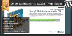 Maintenance Mode - Wordpress Plugin . Wanna see a live preview of the