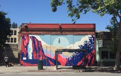 Wall Mural, Berkeley, California Bus Stop, Telegraph Ave