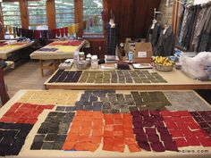 MAIWA founder Charlotte Kwon taught an intense two-week study of natural colorants on a variety of fibres at Penland School of Crafts in North Carolina. She was accompanied by daughter, assistant, and fellow-teacher Sophena Kwon.