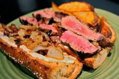 Grilled Skirt Steak Sandwiches with Garlic and Basil Mayo and Caramelized Onions