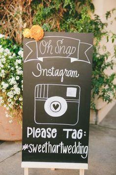 Como fazer placas #hashtag para seu casamento