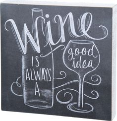 Wine Is Always A Good Idea Sign