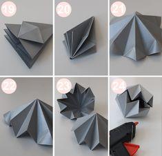 DIY guide til origami diamanter, der er til at fatte! 3d Origami Stern, Instruções Origami, Origami Paper Folding, Origami Star Box, Origami Stars, Diamond Origami, Geometric Origami, Origami Design, Origami Instructions