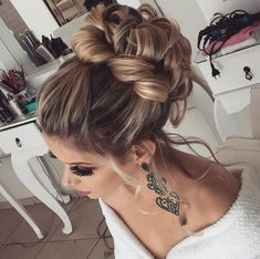 (notitle) The post appeared first on Dress Models. Evening Hairstyles, Wedding Hairstyles, Hair Stations, Wedding Hair Inspiration, Hair Dos, Prom Hair, Pretty Hairstyles, Bridal Hair, Short Hair Styles