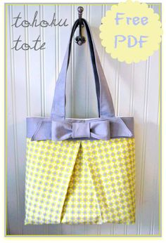 The Tohoku Tote Bag - Free Pattern & Tutorial + How to Sew Box Pleat Pockets