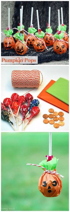 Halloween Craft - Skip the ghost lollipops this Halloween and try making Pumpkin Pops!