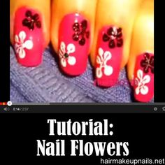 How to Create Nail Flowers ►► http://www.hairmakeupnails.net/how-to-create-nail-flowers/?i=p