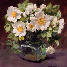 Wild Roses in an Inkpot