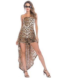 Romper For Women Bateau Neck Leopard Print Train Summer Sexy Romper Jumpsuit Outfit, Casual Jumpsuit, Summer Jumpsuit, Rompers Women, Jumpsuits For Women, Off Shoulder Jumpsuit, Long Jumpsuits, Womens Bodysuit, One Piece For Women