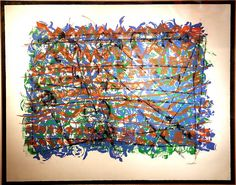 "Jean Paul Riopelle, « Chope », Lithographie,  24"" x 30"""