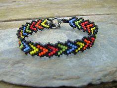 Native American Beadwoven Women's Bracelet in by BeetledeeBeading, £10.00 #nativeamerican #bracelet #beadwoven