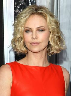 Charlize with some short curls