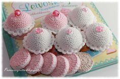Prinsessajuttu: Virkattuja herkkuja ja hedelmiä (crocheted desserts)